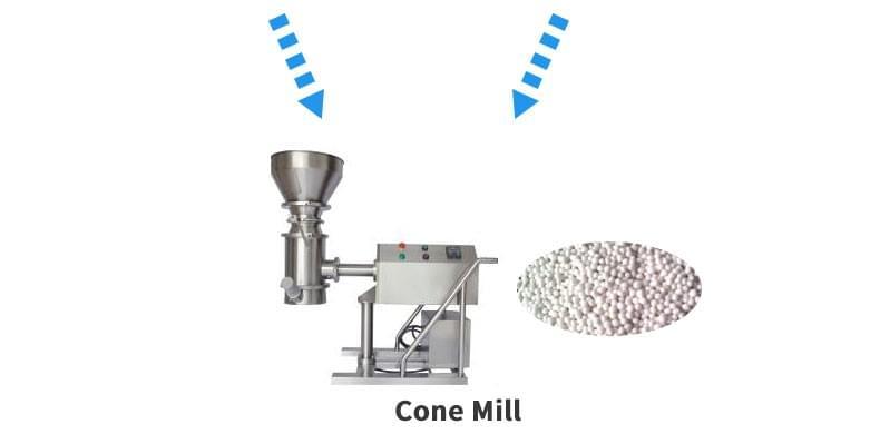 粉状颗粒溶液锥磨机