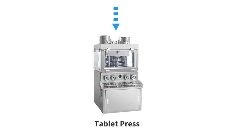 片剂成型液生产线压片机