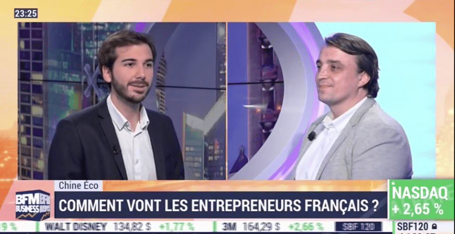 Gregory PRUDHOMMEAUX, founder of NextStep Studio, and copresident of La French Tech Shanghai interviewed by Erwan MORICE on BFM Business