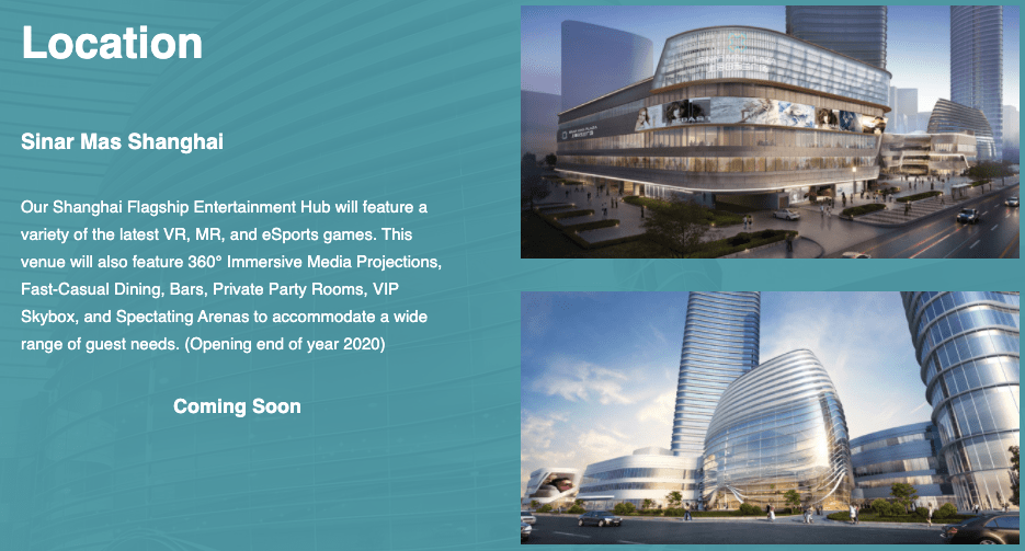 PLANET O Sinar Mas Shanghai - First Location Opening End of the year 2020