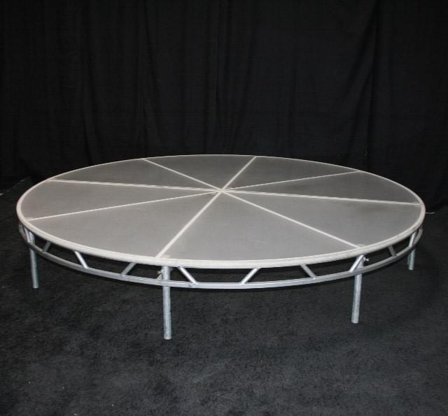 Frosted Plexi Round Stage
