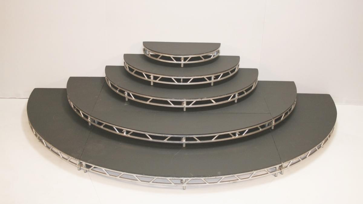 Round, Half-Round, and Quarter Round Platforms are available.