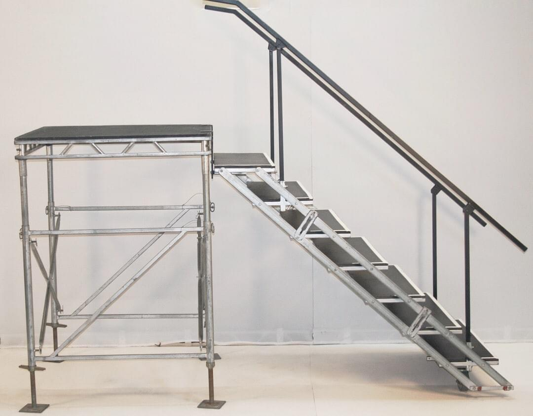Frame Stairs with Handrails
