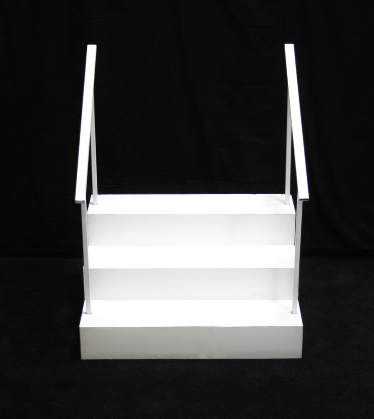 White Box Stairs with Handrails