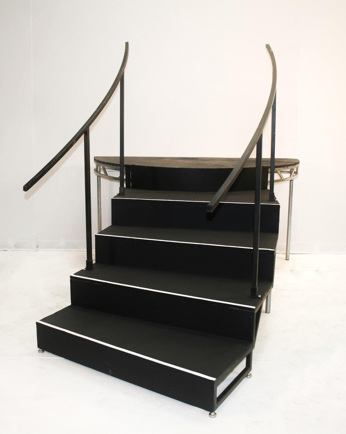 Curved Frame Stairs with Handrails