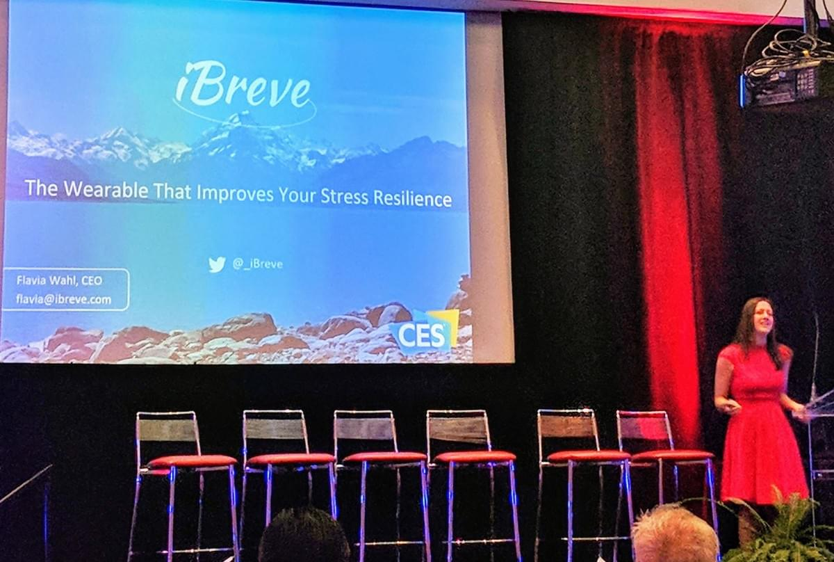 iBreve on stage at CES in Las Vegas