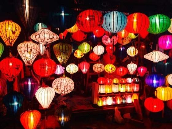 Image of colorful Chinese lanterns during Mid-Autumn Festival