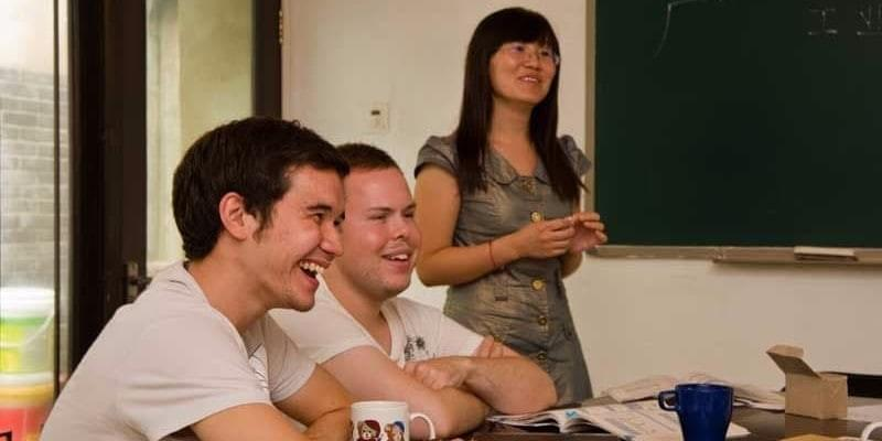 Image showing people in China learning Chinese at Hutong school