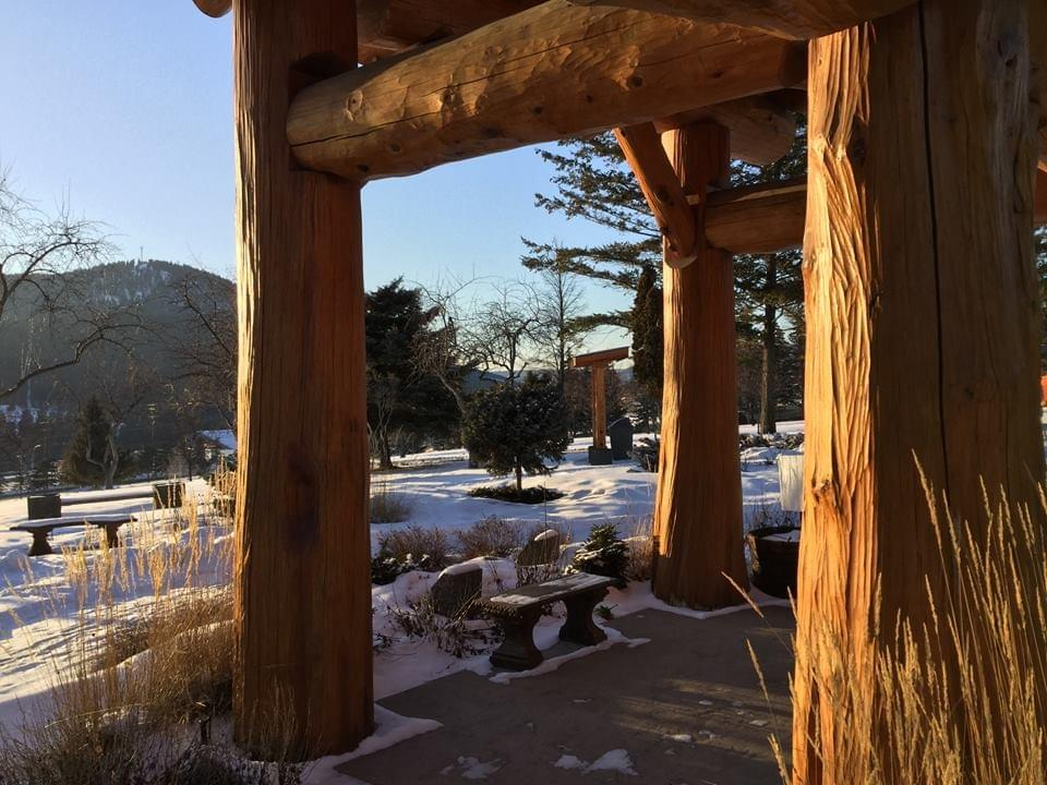 From the gazebo at Serenity Garden overlooking the Williams Lake Cemetery, Feb 2019 NFinch Photo