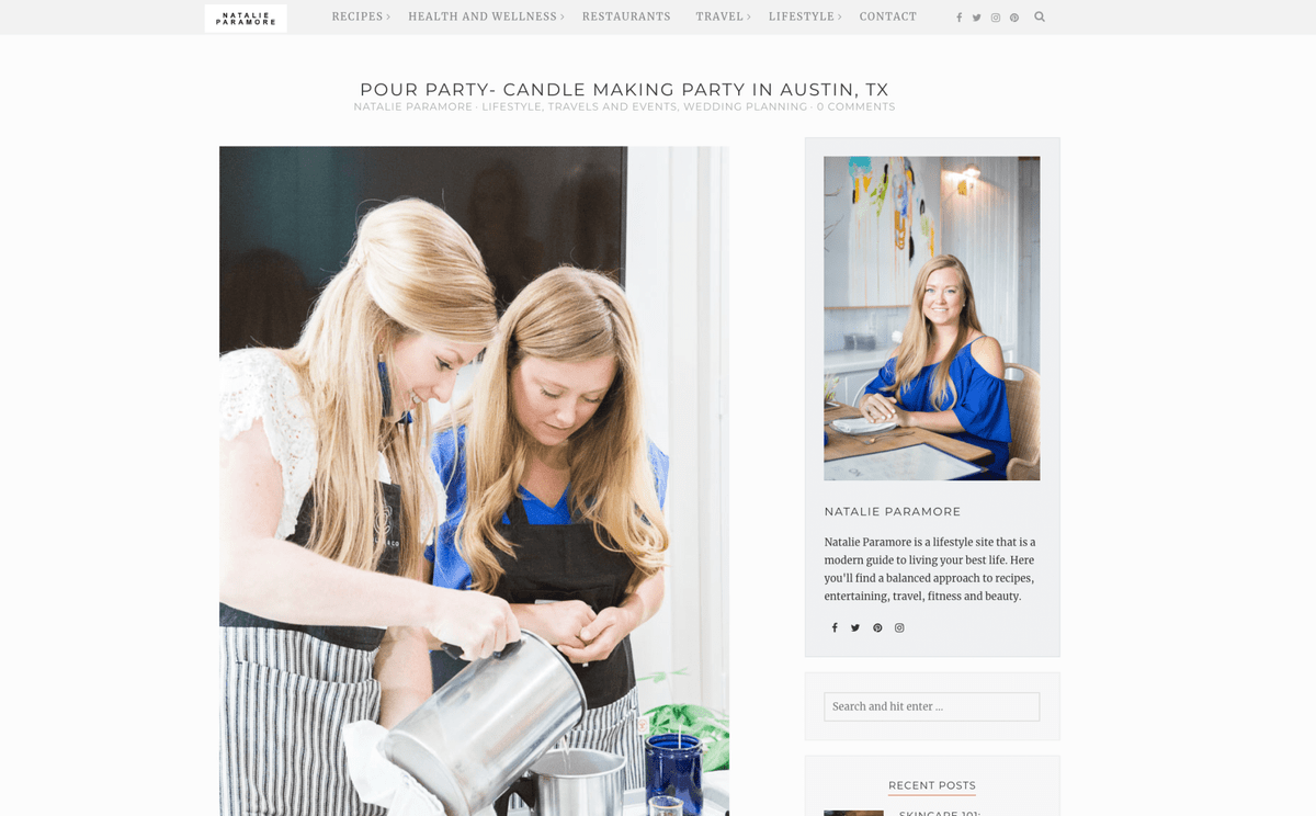 candle pour party bridal austin bride texas