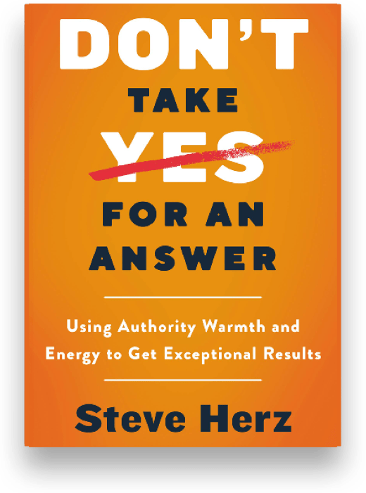 DOn't take yes for an answer book