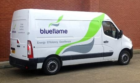 Blueflame fleet van