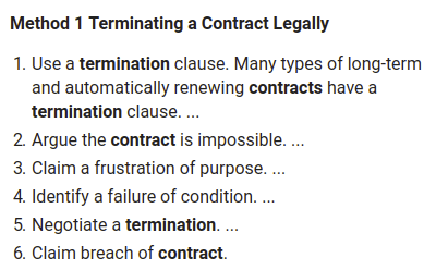 terminate contract early
