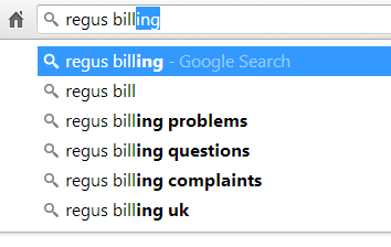 regus billing problems