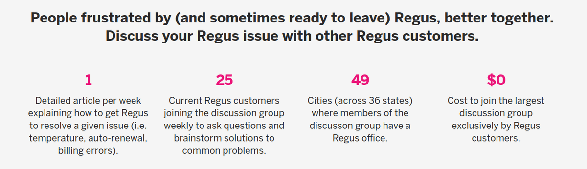 ask regus question