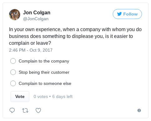 customer complaint poll