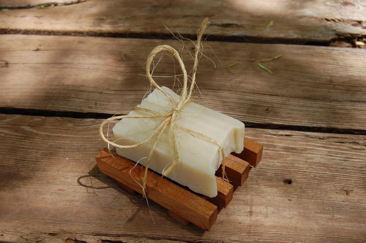 Natural Bar Soap & Reclaimed Wood Soap Saver