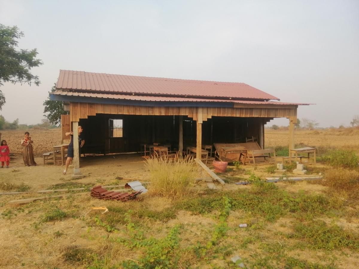 "Site of current ""school"" where an additional 4-room building will be constructed; this building will be updated to house teachers who travel extensively to reach this remote village."
