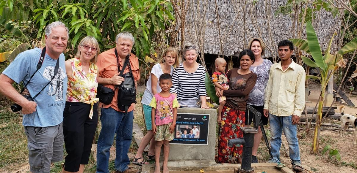 Six American friends meet a Cambodian Family that received a water well as a result of a $200 donation to MTRF; this will change their lives forevermore!