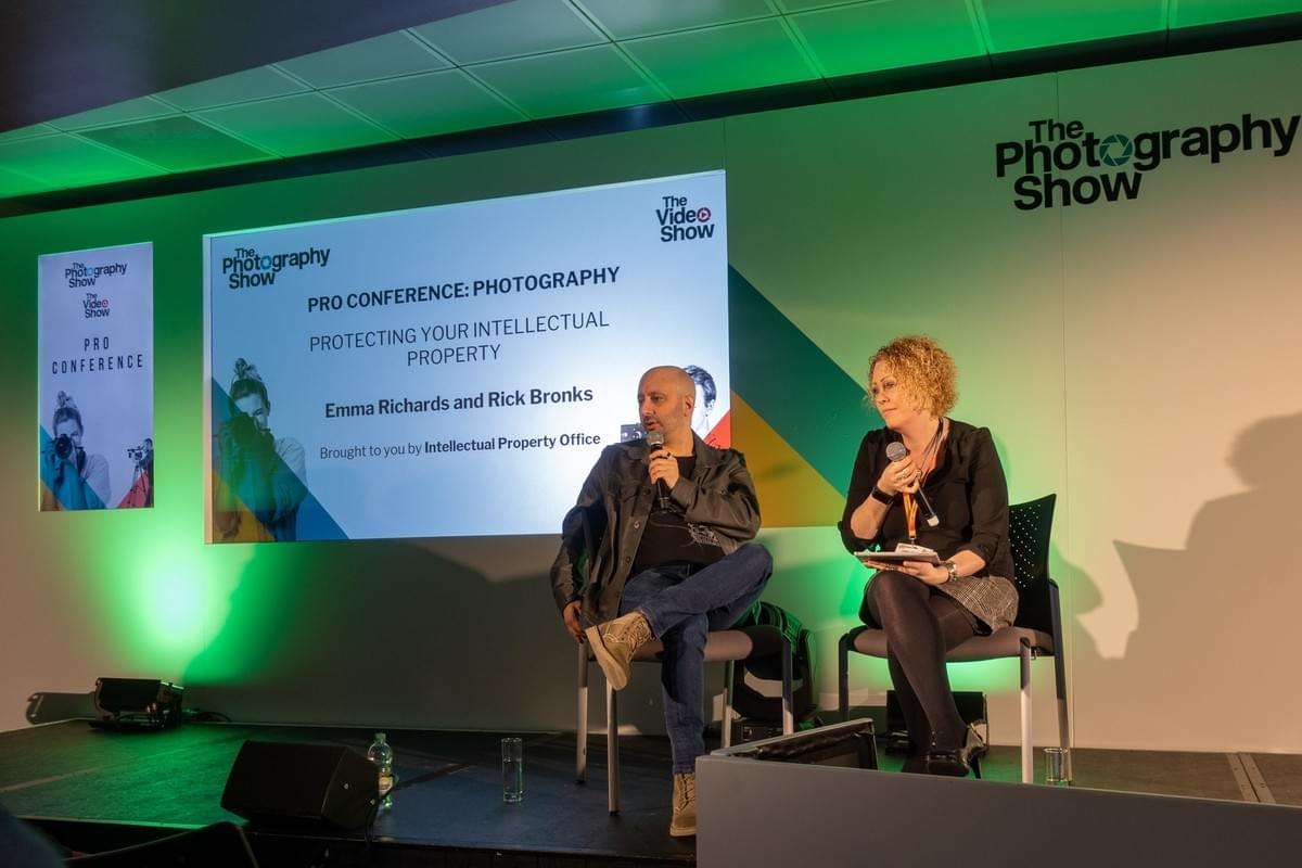 Rick Bronks speaking at the photography show 2019
