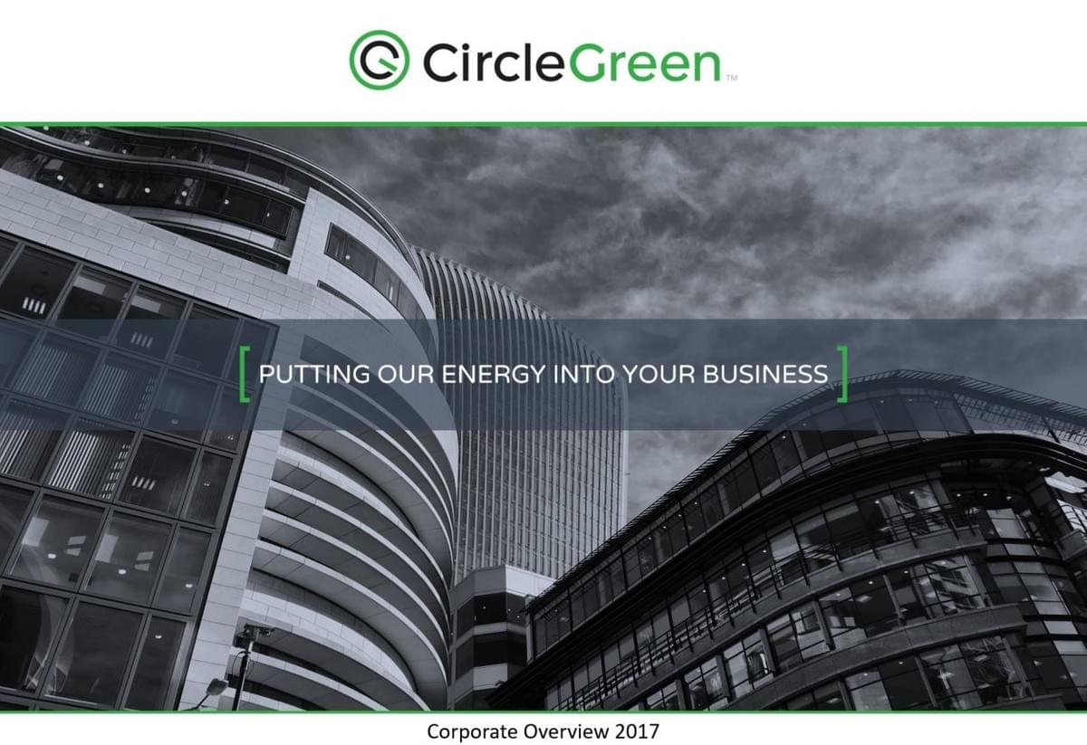 Circle Green Corporate Overview 2017