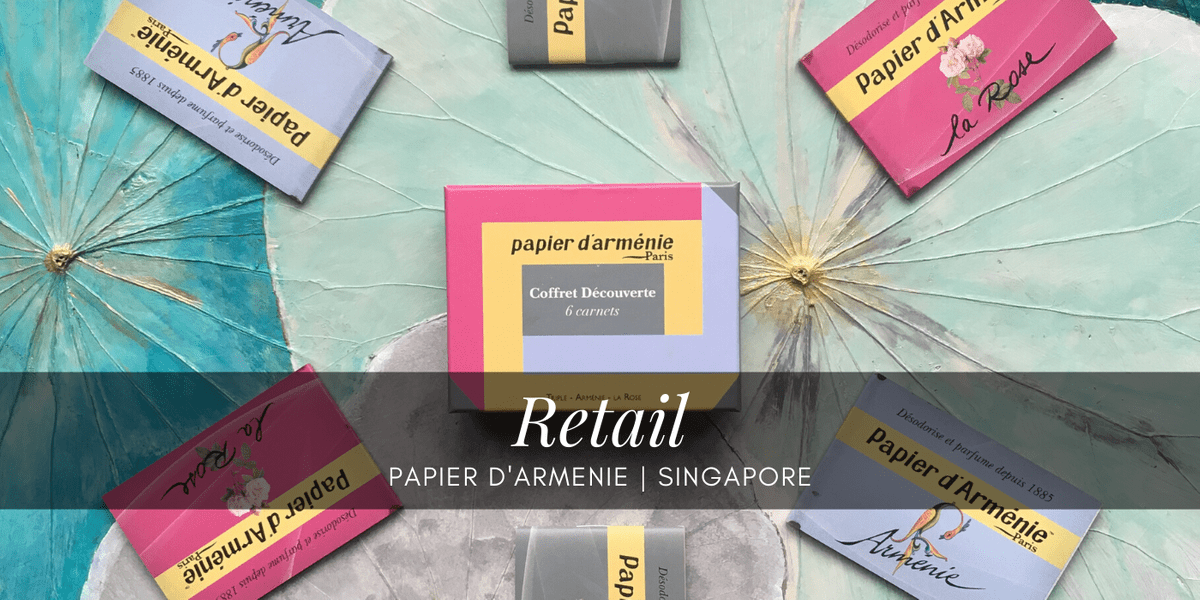 Participation in the staging of their world-renowned incense paper by Papier d'Armenie Singapore.