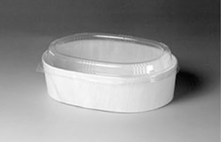 Oval - Wood Disposable Container