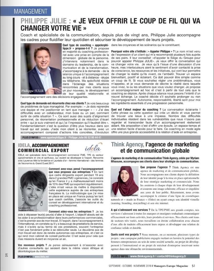 Interview Myriam Mhaoune - Managers Europe Magazine - Paris