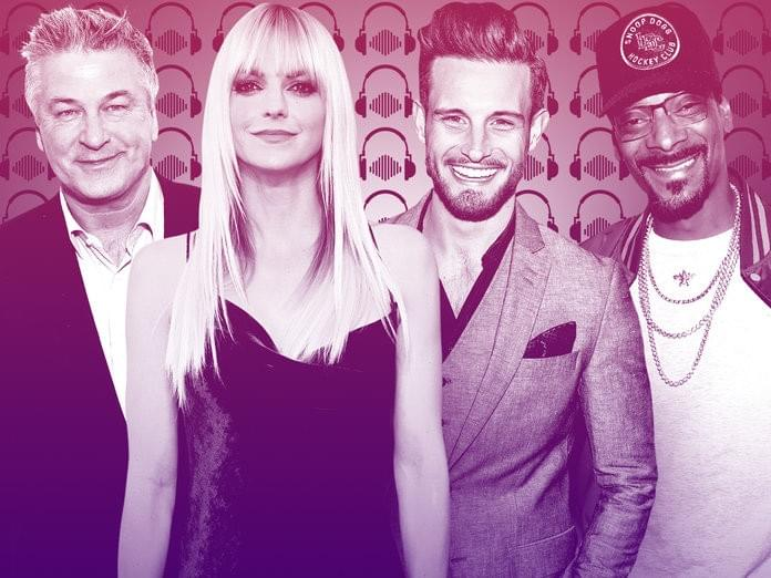 US Podcast Hosts Alec Baldwin, Anna Faris, Nico Tortorella, Snoop Dogg