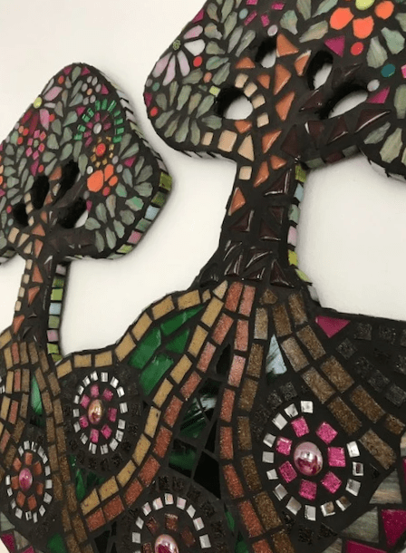 Two Trees, mixed mosaic £175