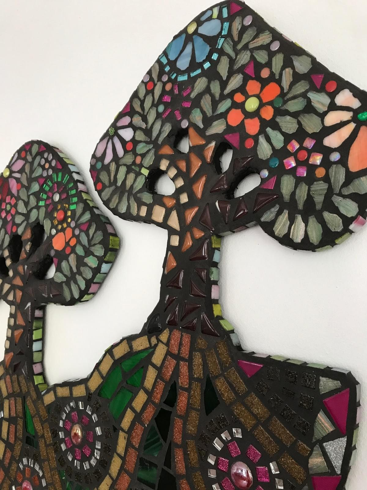 Twin Trees, mixed media mosaic (50 x 50 cms)  £360
