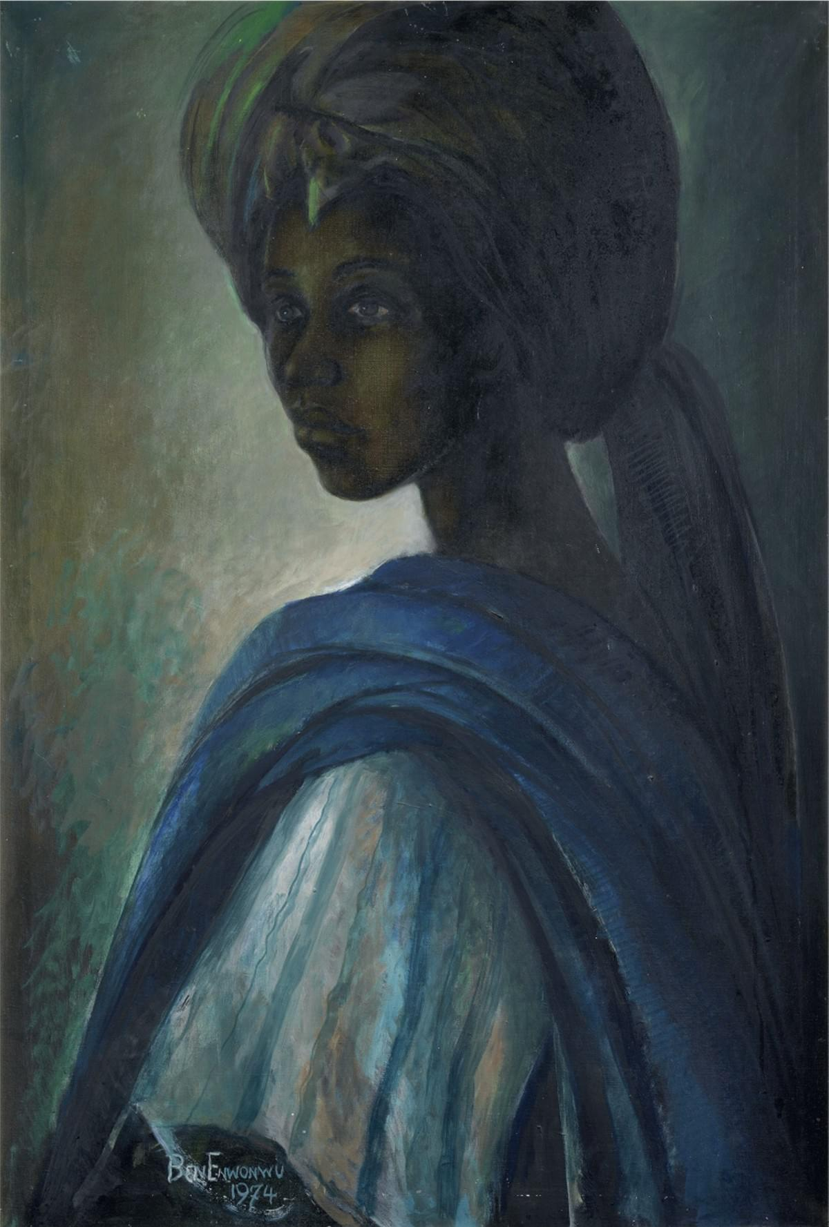 Ben Enwonwu Tutu, Oil on Canvas (97 x 66.5cm) (Photo Credit: Bonhams)