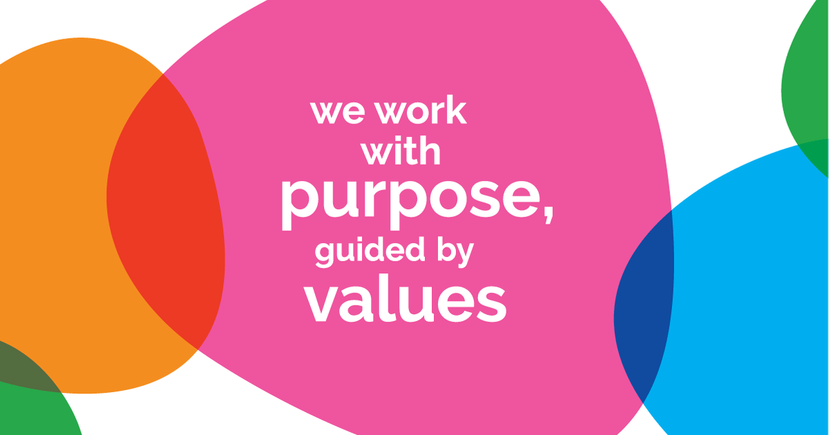 Image: We work with purpose, guided by values.