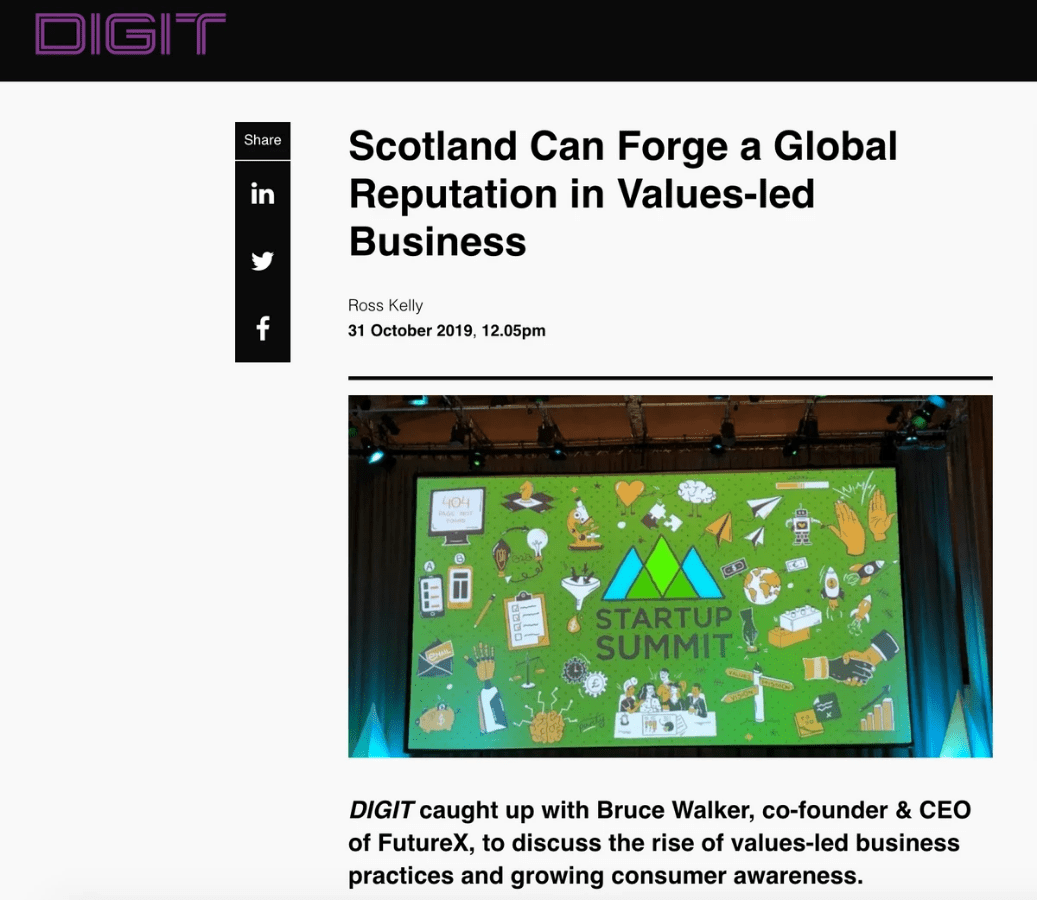 DIGIT - Scotland Can Forge a Global Reputation in Values-led Business