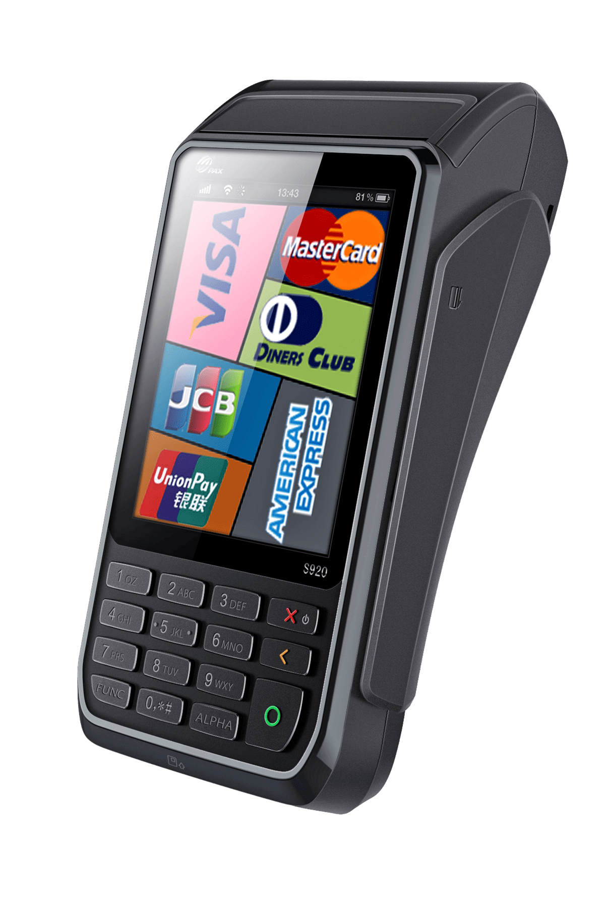 PAX S920 mobile wireless POS terminal