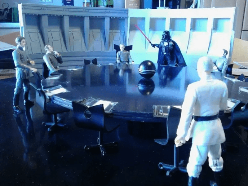 Darth Vader crashes the Death Star conference room