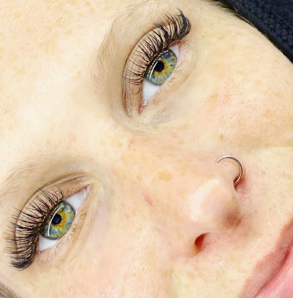 Kirsty wearing 5D russian volume individual lash extensions Congleton