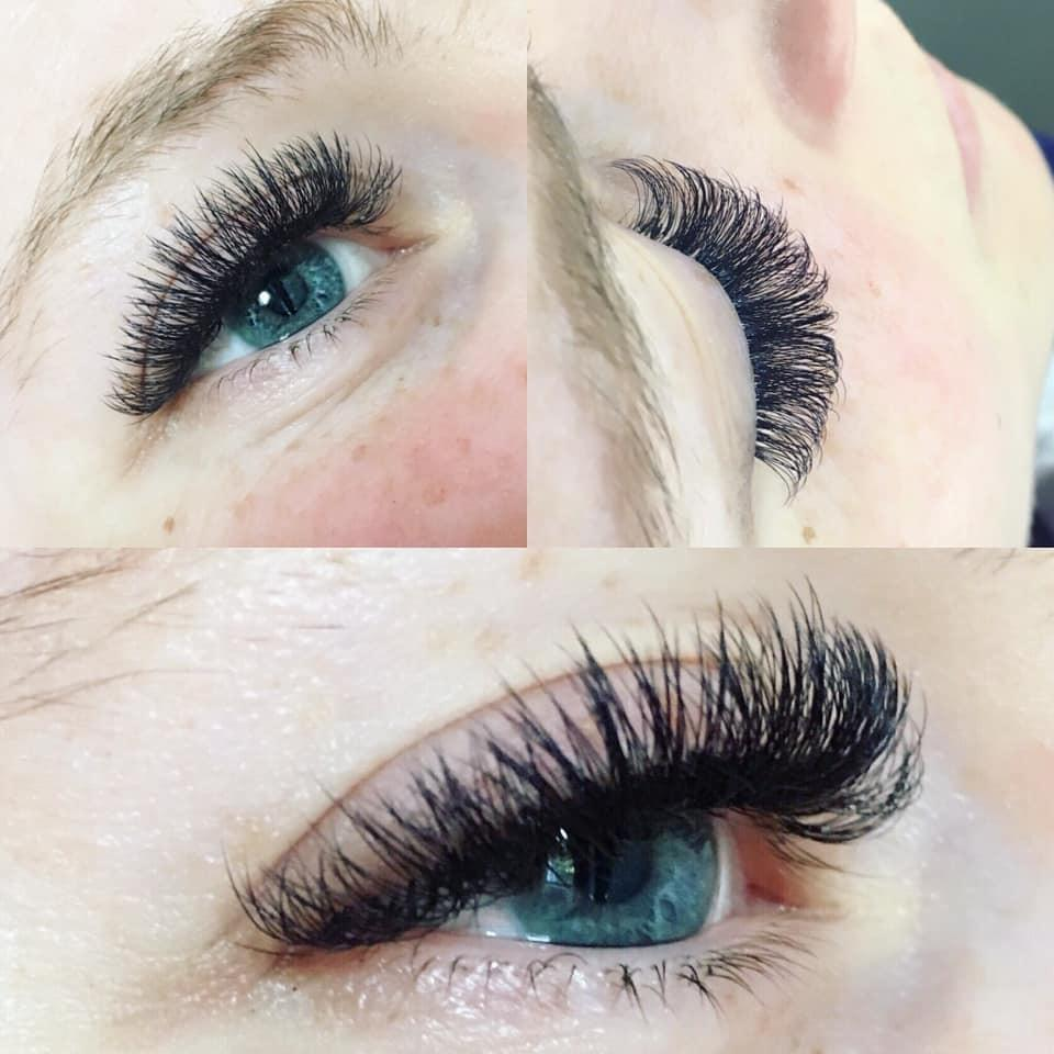Individual lash extensions by me at my Congleton lash salon for my beautiful client Aimee