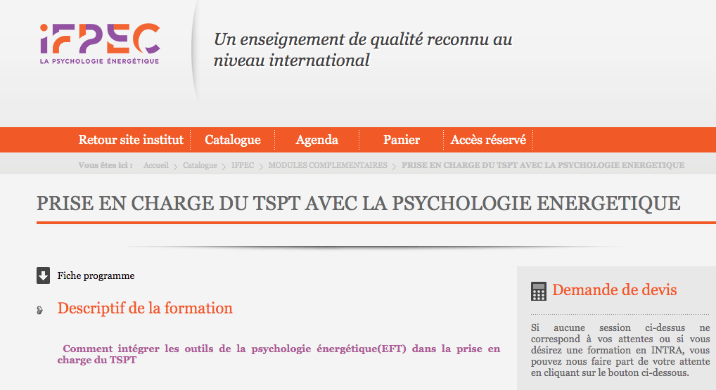 psychologie energetique et syndrome de stress post traumatique