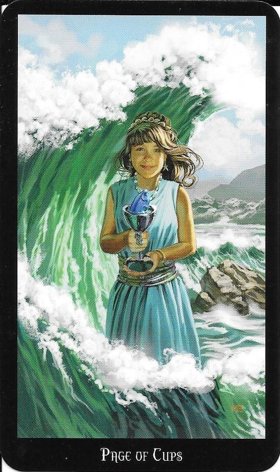 The Tarot Of Eli The Witches Tarot Page Of Cups The Thoth Tarot Princess Of Cups