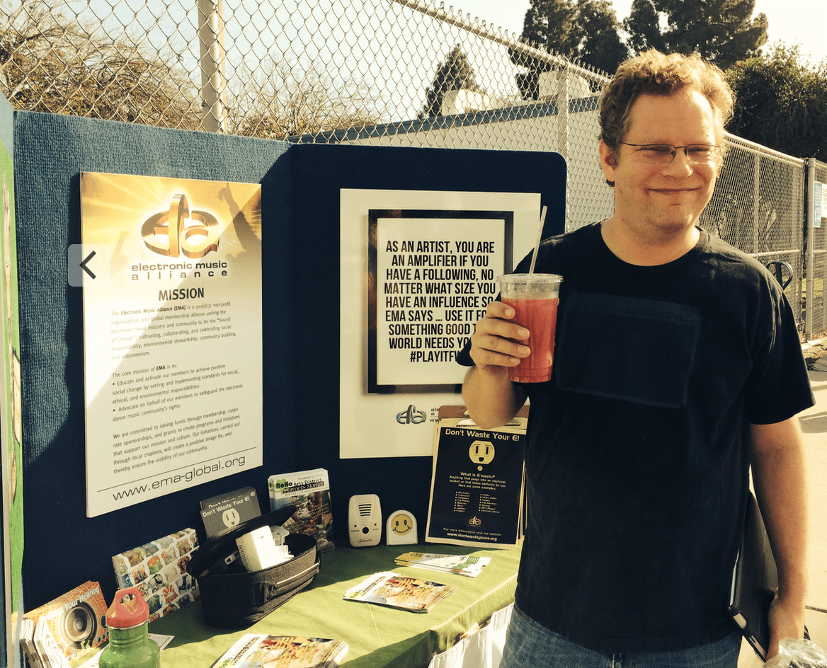 EMA Founding Member, Michael Tullberg, supporting an EMA run Ewaste drive in L.A. circa 2015