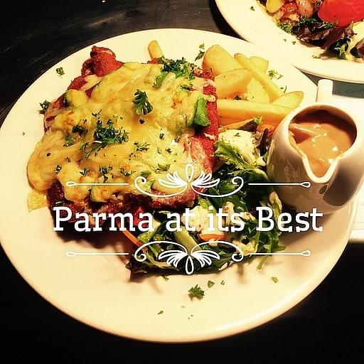 Cunninghams Hotel - famous for our freshly made parmas with 10 varieties including vegetarian