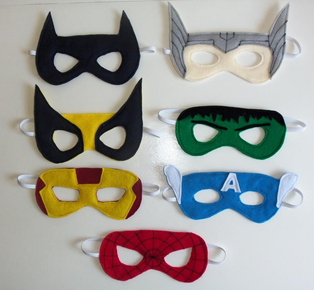 DIY Superhero Masks from CutesyCrafts.com