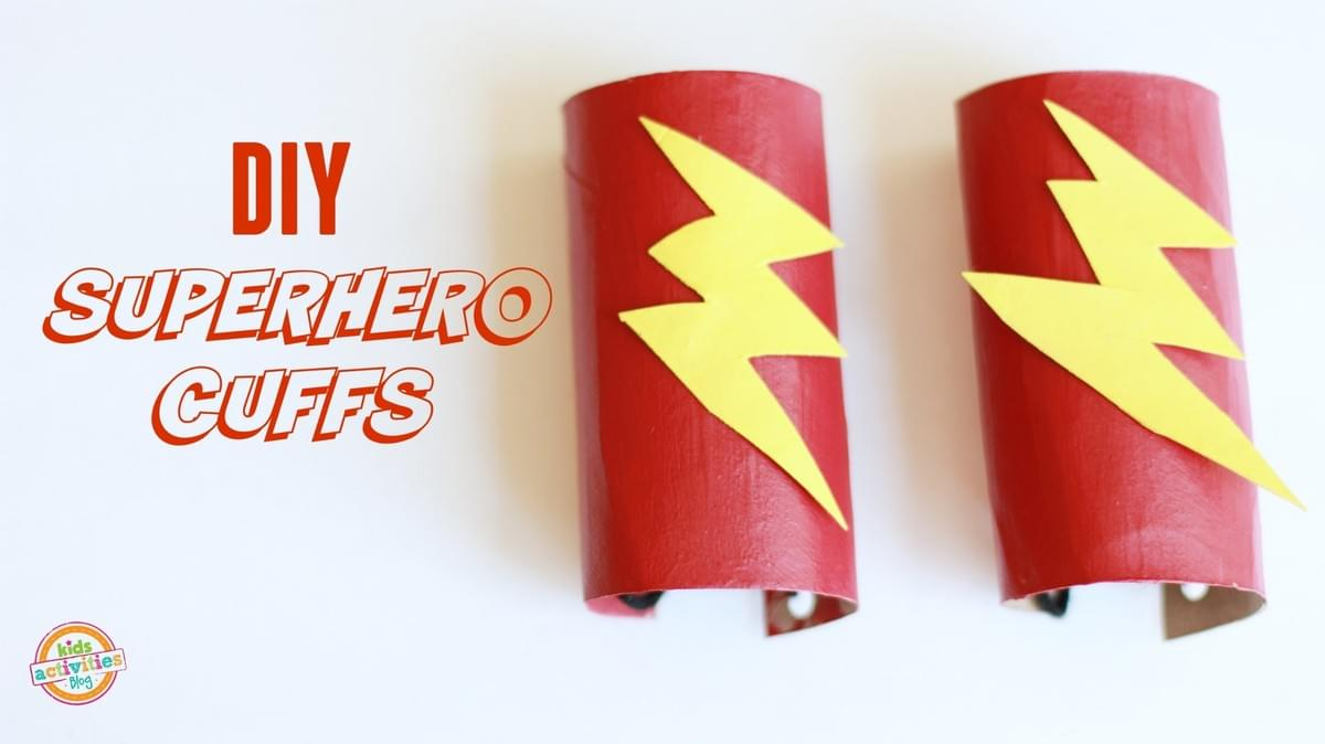 DIY superhero cuffs