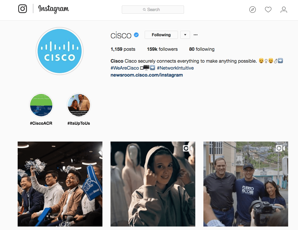 Cisco Instagram