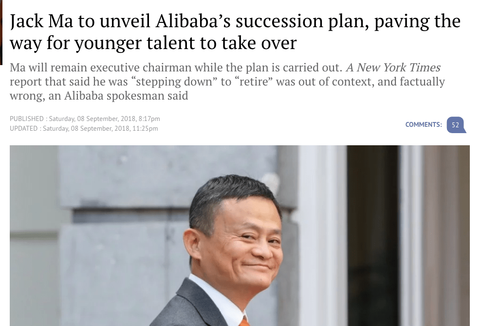 Jack Ma to Unveil Alibaba's succession plan - South China Morning Post