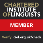 Chartered Institute of Linguists member