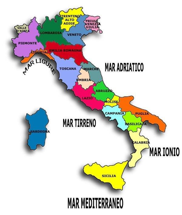 Cartina Italia Nord Sud Est Ovest.Curiosita Geografiche D Italia It