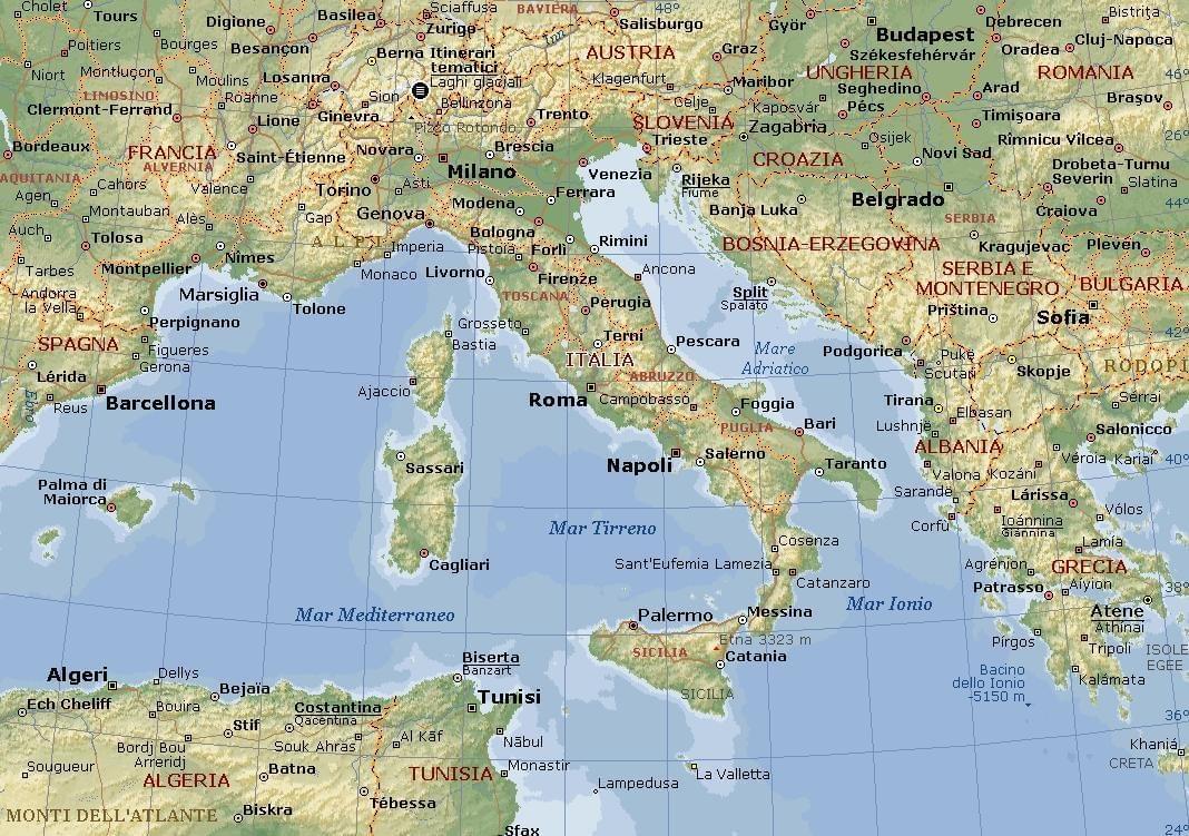 Foto Della Cartina Fisica Dell Italia.Curiosita Geografiche D Italia It