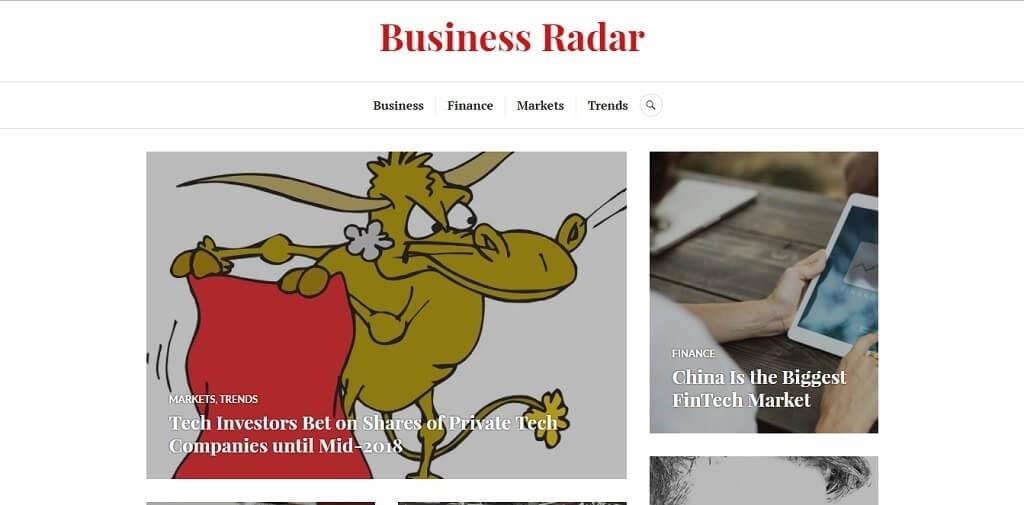 Website of Business Radar - a business trends blog providing analysis and insights on global business and economy  trends.